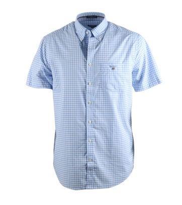 Gant Shirt Korte Mouw Blauw