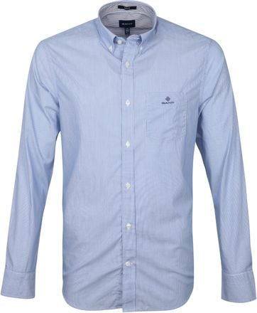 Gant Shirt Micro Stripes Blue