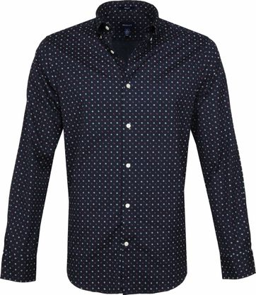 Gant Shirt Scribble Print Navy