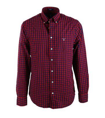Gant Shirt Seersucker Rot