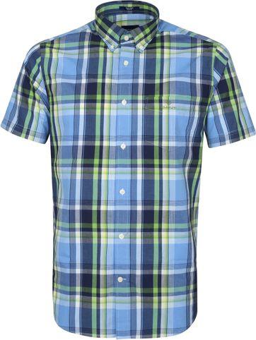 Gant SS Shirt Pane Blue