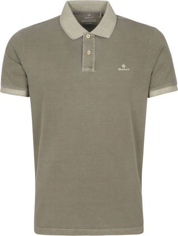 Gant Sunfaded Polo Shirt Aloe Grün
