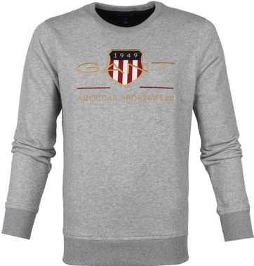 Gant Sweater Logo Grey