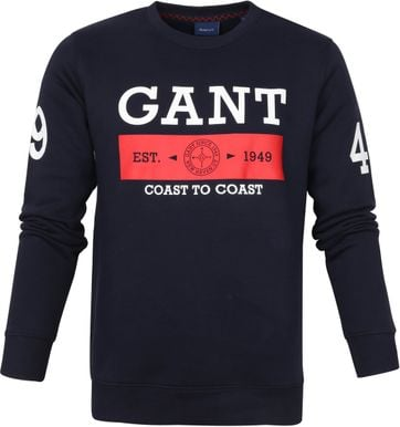 Gant Sweater Nautical Logo Donkerblauw