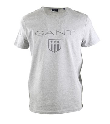 Gant T-shirt Giant Shield Grijs