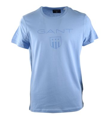 Gant T-shirt Giant Shield Lavendel Blau