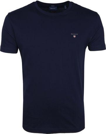 Gant T-Shirt Original Donkerblauw