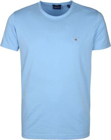 Gant T-Shirt Original Lichtblauw