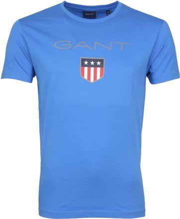 Gant T-shirt Shield Blauw