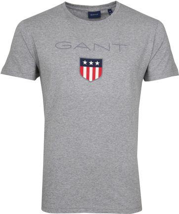 Gant T-shirt Shield Grau