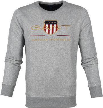 Gant Trui Logo Grijs