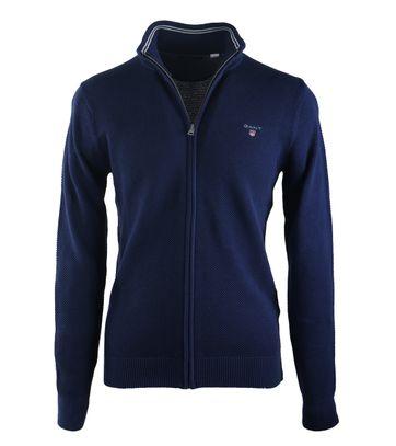 Gant Vest Pique Donkerblauw