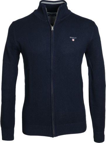 Gant Vest Pique Navy