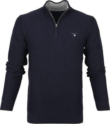 Gant Zip Sweater Dark Blue
