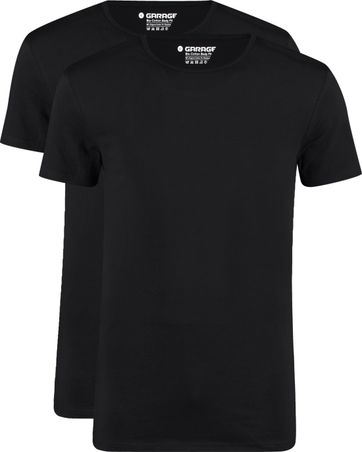 Garage 2-Pack Basic T-shirt Bio Black