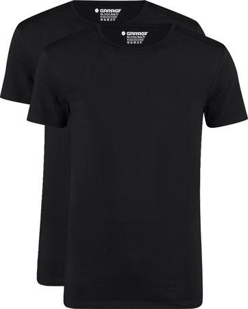 Garage 2-Pack Basic T-shirt Bio Schwarz