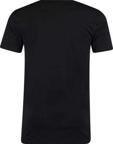 Garage 2-Pack Basic T-shirt Bio V-Neck Zwart