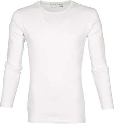 Garage Basic T-shirt Longsleeve Weiß