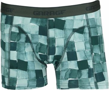 Garage Boxer Shorts Texas Square Green