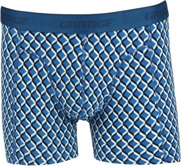 Garage Boxershort Hawaii Muster Blau