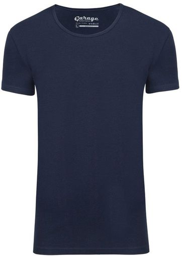 Garage Stretch Basic Dark Blue Deep O-Neck