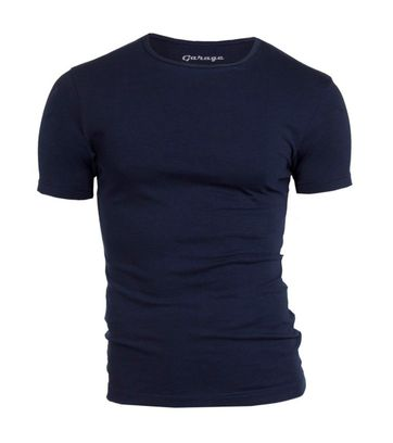 Garage Stretch Basic Navy O-Hals