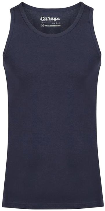 Garage Stretch Basic Singlet Donkerblauw
