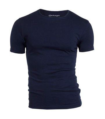 Garage Stretch Basic T-Shirt Dunkelblau Rundhals