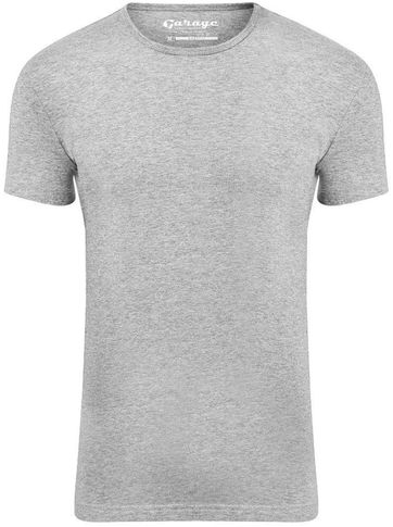 Garage Stretch Basic T-Shirt Grau Rundhals