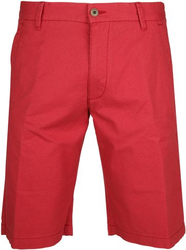 Gardeur Shorts Bermuda Dessin Red