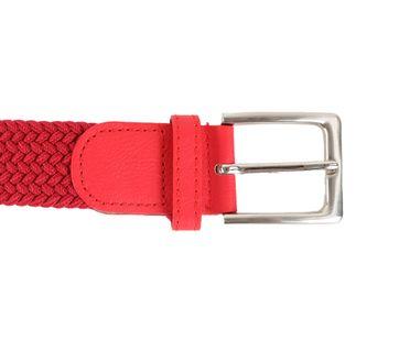 Geflochtener Gürtel Rot