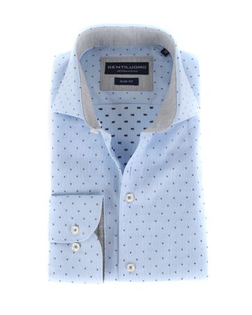 Gentiluomo Overhemd Rivoli Dessin Blauw
