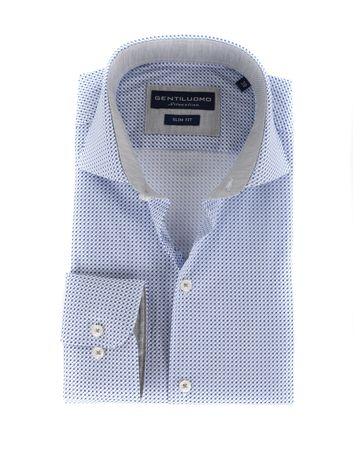 Gentiluomo Overhemd Rivoli Print Blauw