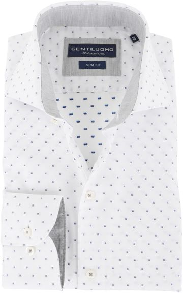 Gentiluomo Shirt Rivoli Dessin White