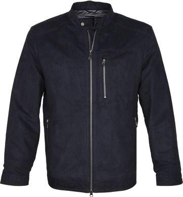 Geox Coat Blainey Biker Navy