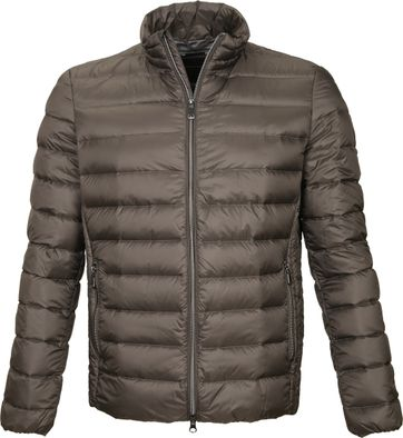 Geox Respira Puff Jacket Dark Green