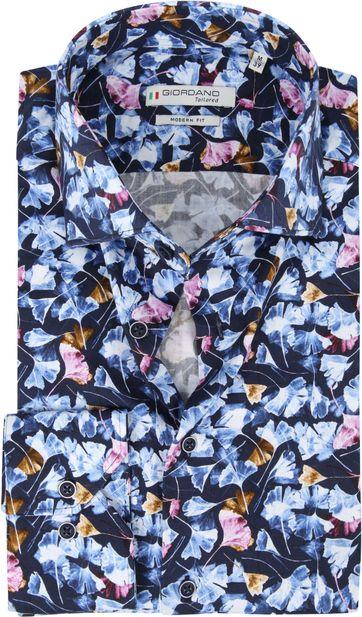 Giordano Hemd Maggiore Blätter Blau