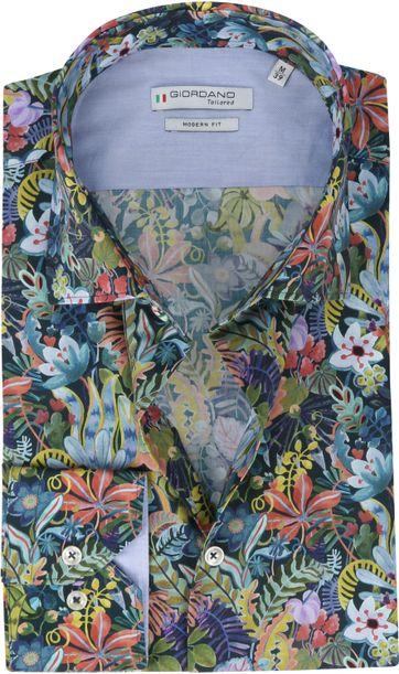Giordano Hemd Maggiore Blumen Multicolour