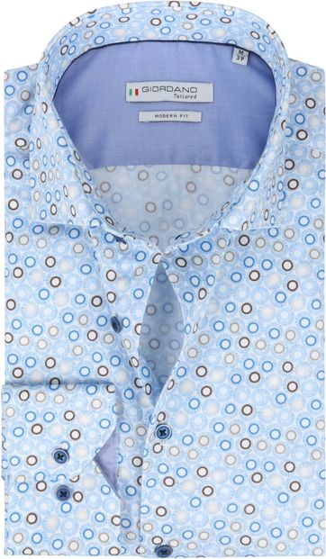 Giordano Hemd Maggiore Cirkels Donkerblauw