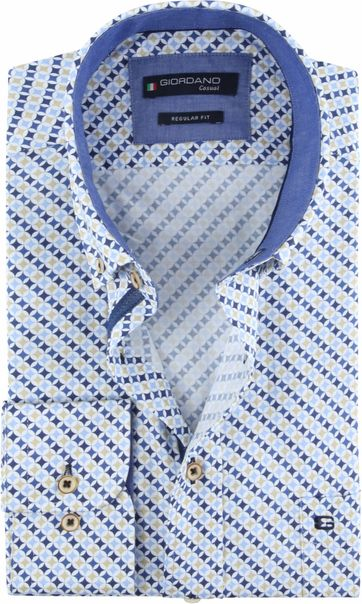 Giordano Overhemd Dessin Blauw