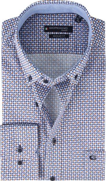 Giordano Overhemd Dessin Bruin