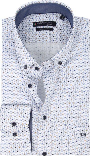 Giordano Overhemd Grafisch Blauw