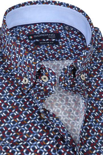 Giordano Overhemd Ivy Spriaal Rood