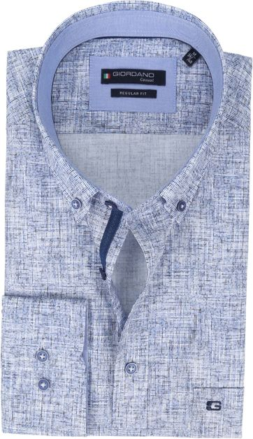 Giordano Overhemd Kennedy Dessin Donkerblauw