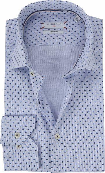 Giordano Overhemd Patroon Blauw