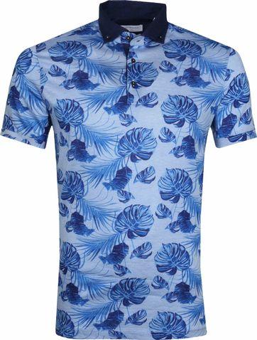 Giordano Poloshirt Bladeren Blauw