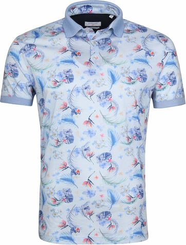 Giordano Poloshirt Bloemen Blauw