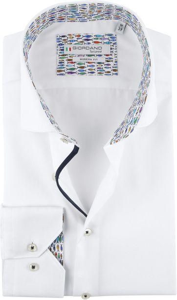 Giordano Shirt Baggio Fish White