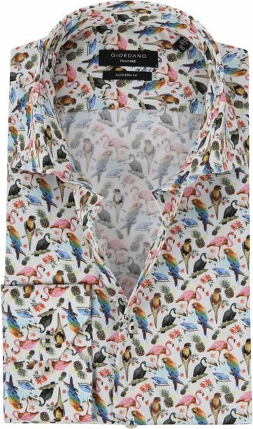 01c6b13b376 Giordano Shirt Birds Multicolour