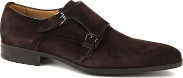 Giorgio Amalfi Shoe Monk Strap Brown Suede